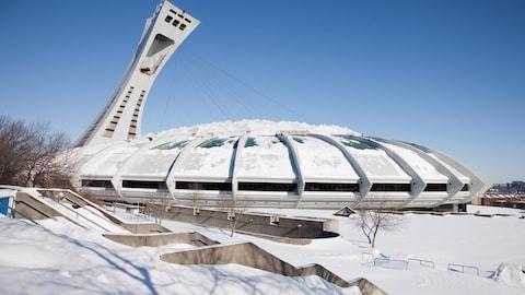 Le stade olympique de Montréal.