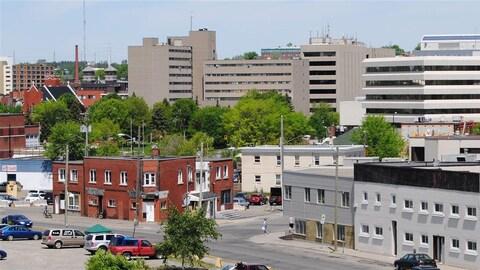 Le centre-ville du Grand Sudbury.