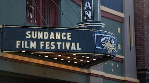 L'enseigne du Egyptian Theater, un cinéma emblématique du festival Sundance