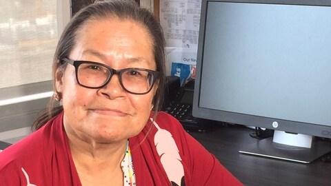 L'organisatrice du pow-wow de de Waskaganish, Susan Esau.