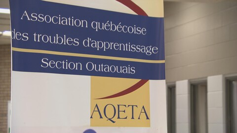 Un bannière de l'Association québécoise des troubles d'apprentissage, Section Outaouais.
