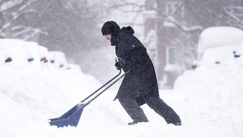 Ramassage de la neige à Montréal