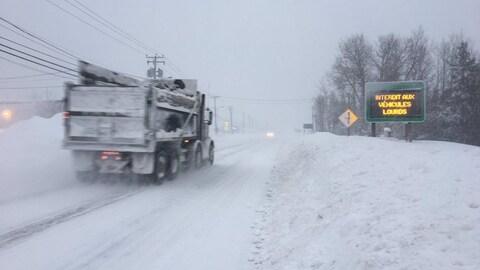 Tempête de neige sur la Côte-Nord