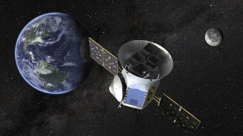 Une illustration duTransiting Exoplanet Survey Satellite