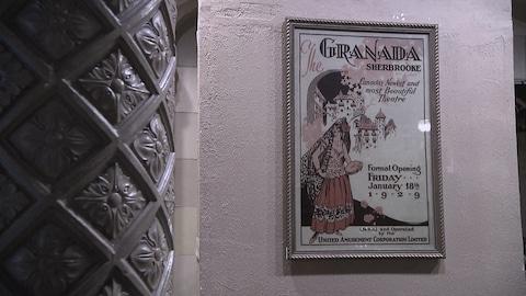 Une affiche de l'ouverture officielle du Granada en 1929.