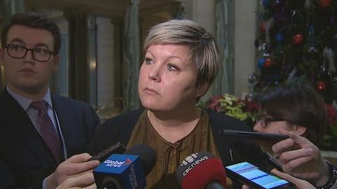 La ministre Tina Beaudy-Mellor