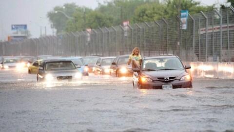 Des inondations à Toronto en 2013