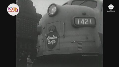 Devant d'un wagon de train avec le logo de Canadian Pacific