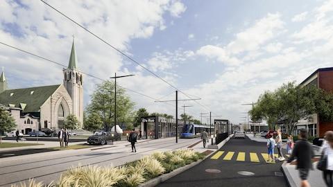Maquette de la future station de tramway