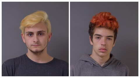 Deux portraits des jeunes disparus à Moncton.