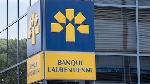 Logo de la Banque Laurentienne à Montréal (Archives)