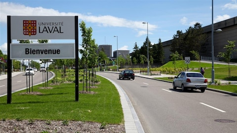 L'entrée du campus de l'Université Laval