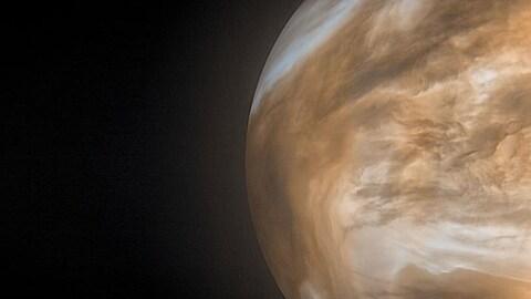 Image composée de l'atmosphère de Vénus.