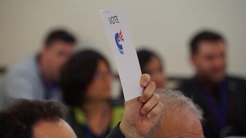 Les membres du Parti conservateur du Québec se sont prononcés sur diverses propositions.