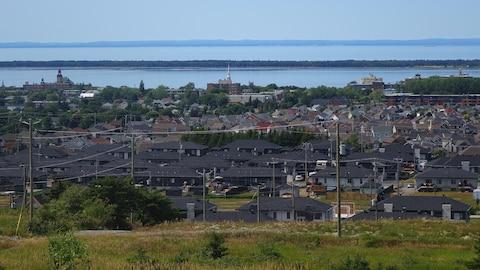 Vue sur la ville de Rimouski