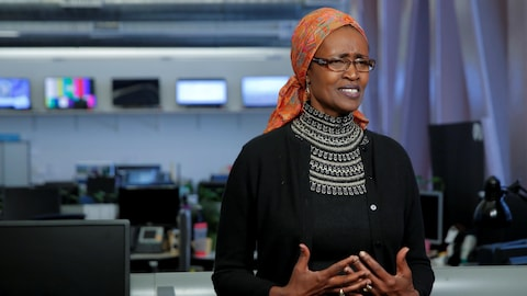 Winnie Byanyima, directrice exécutive d'Oxfam International, accorde une entrevue à New York, le 11 février 2018.