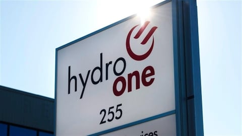 Une affiche d'Hydro One