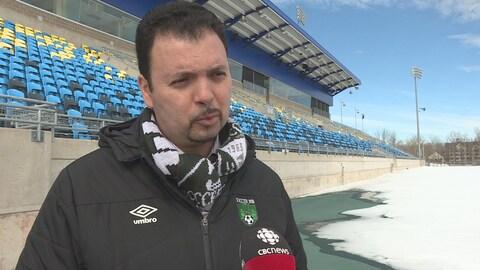 Younes Bouida, directeur général et technique de Soccer NB