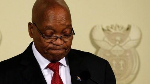 Dans une intervention télévisée d'une trentaine de minutes, Jacob Zuma a démissionné de son poste de président de l'Afrique du Sud, mercredi.