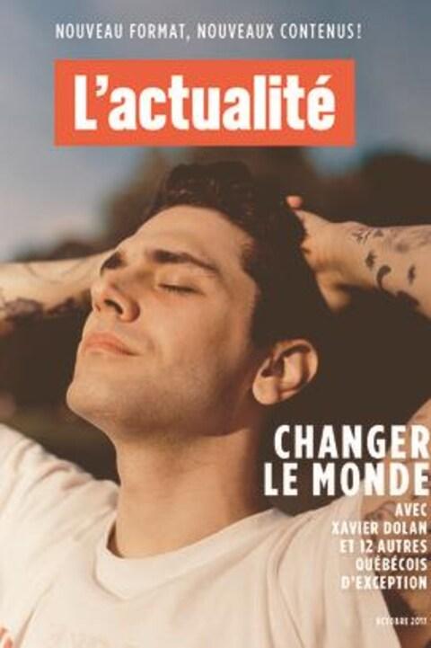 Xavier Dolan est en couverture de la revue L'actualité revampée