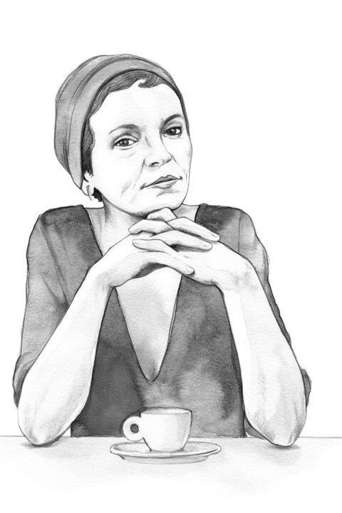 Anaïs Barbeau-Lavalette selon Paule Thibault. Très beau portrait en noir et blanc de la jeune cinéaste.