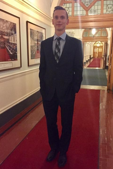Stéphane Gaudet, participant au Parlement jeunesse francophone de la Colombie-Britannique 2017