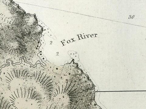Peu après la Conquête anglaise, les cartographes anglicisent les toponymes français comme «Fox River» pour Rivière-au-Renard