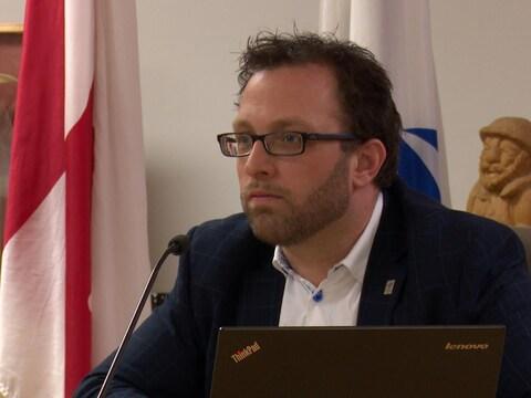 Le maire de Gaspé Daniel Côté.
