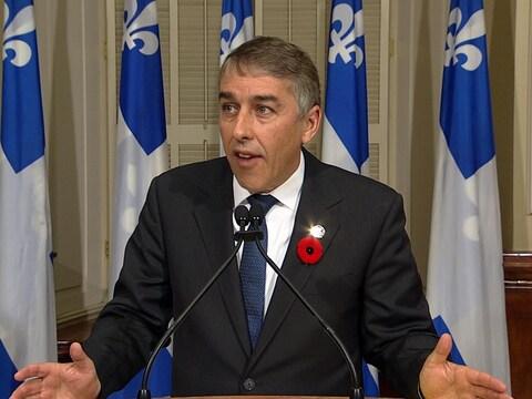 Le porte-parole du Parti québécois en matière de Finances, Nicolas Marceau