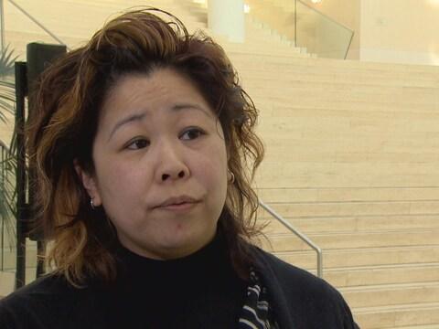 Sandy Jung à l'hôtel de ville d'Edmonton