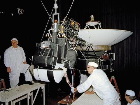La sonde Voyager, testée dans les laboratoires de la NASA en Californie