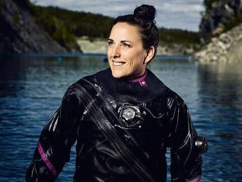 Stéphanie Labbé, plongeuse professionnelle