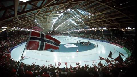 L'anneau de vitesse de Lillehammer aux Jeux olympiques de 1994