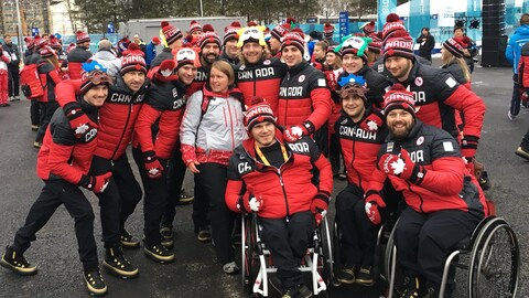 L'équipe paralympique canadienne à Pyeongchang en 2018