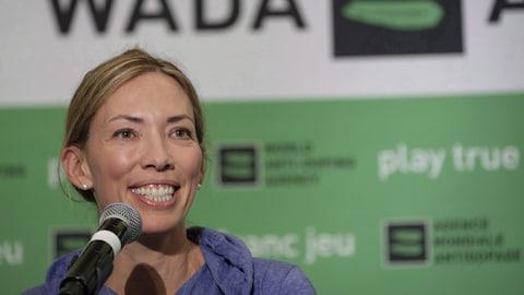 La Canadienne Beckie Scott était la présidente du comité des sportifs de l'Agence mondiale antidopage.