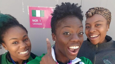 Ces anciennes sprinteuses sourient après leur qualification.