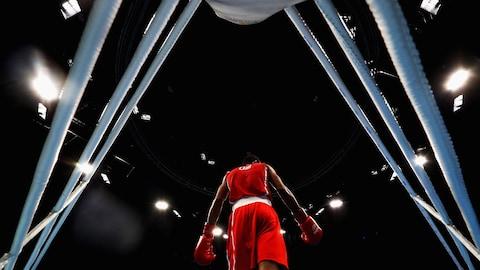 Lazaro Alvarez au tournoi olympique de boxe des Jeux de Rio en 2016