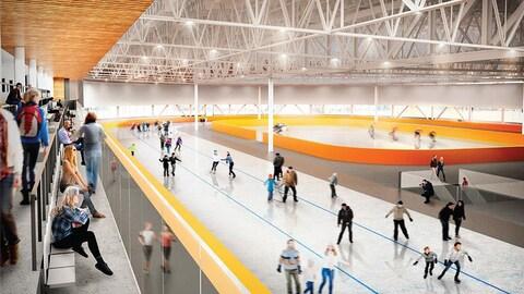 Le Centre des Glaces tel qu'il sera aménagé à Québec dans deux ans
