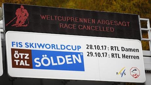C'est la 4e fois en 18 ans que le slalom géant masculin est annulé à Sölden après 2006, 2010 et 2017.