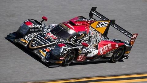 Le Néerlandais Robin Frijns pilote la voiture dans laquelle prendra place le Canadien Lance Stroll aux 24 heures de Daytona.