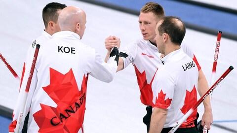 Curling masculin Canada Joe Laing Hebert Kennedy