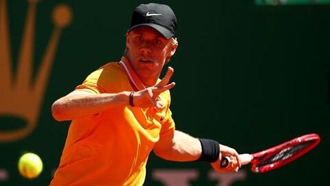 Denis Shapovalov n'était visiblement pas au meilleur de sa forme, lundi, à Monte Carlo
