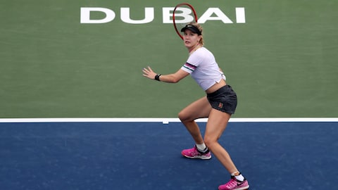 Eugenie Bouchard s'incline en deux manches face à Simona Halep.