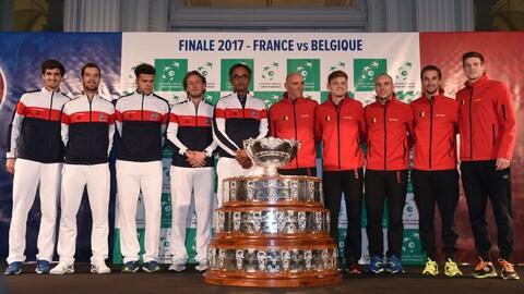 Les deux équipes qui s'affronteront en finale de la Coupe Davis 2017.