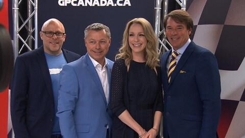 Nicholas Cournoyer, François Dumontier, président du Grand Prix du Canada, Annie Villeneuve et Yves Lalumière