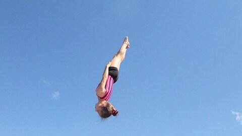 Gaëlle St-Pierre-Lepitre, 9 ans, athlète de trampoline
