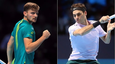 David Goffin et Roger Federer