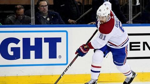 Xavier Ouellet, du Canadien de Montréal, en action contre les Rangers de New York