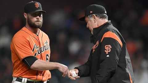 Hunter Strickland (à gauche)