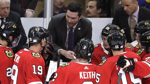 Jeremy Colliton, entraîneur-chef des Blackhawks de Chicago